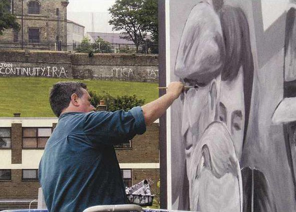 Bogside Artists in ActionWe