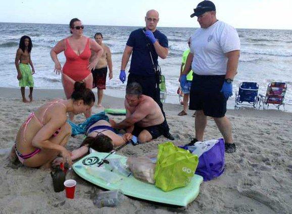W North Carolina Shark  Heal