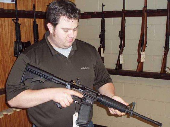 Alan Anderson gun Web
