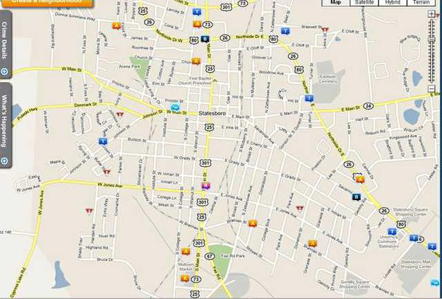 W Crime map