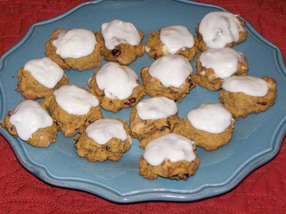 W Iced Pumpkin Cookies