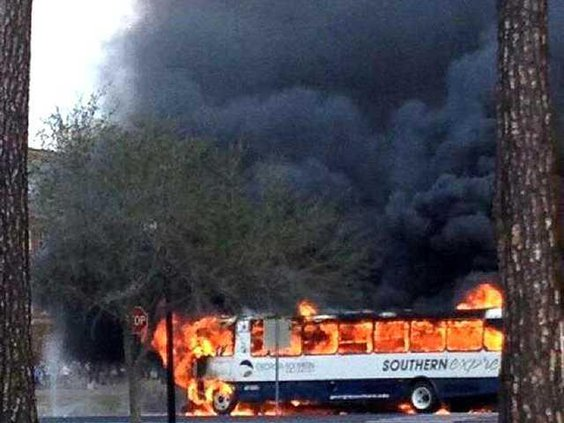 Bus fire Web