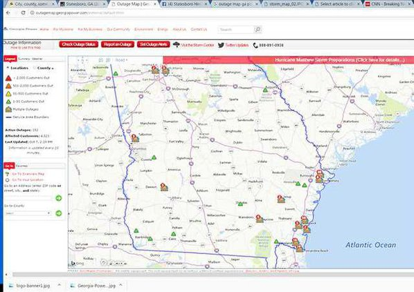 Georgia Power Outage Map Statesboro Herald