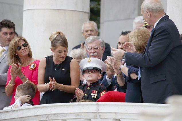 Trump remembers 'America's heroes'