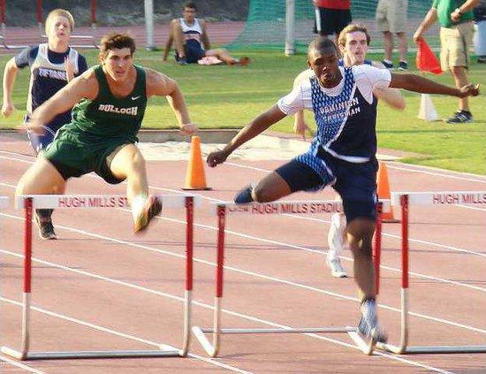 stuckey in 300m hurdles