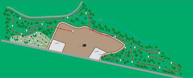 disc golf map