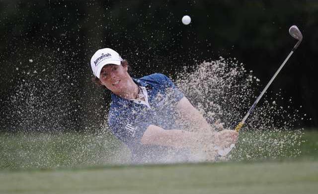 APTOPIX US Open Golf Heal