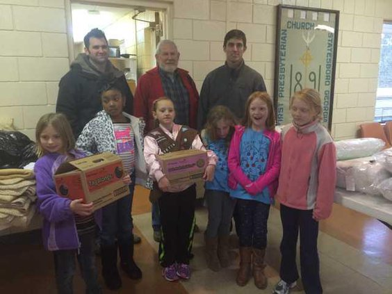 Donation to warming center