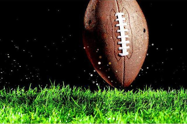 football with black background