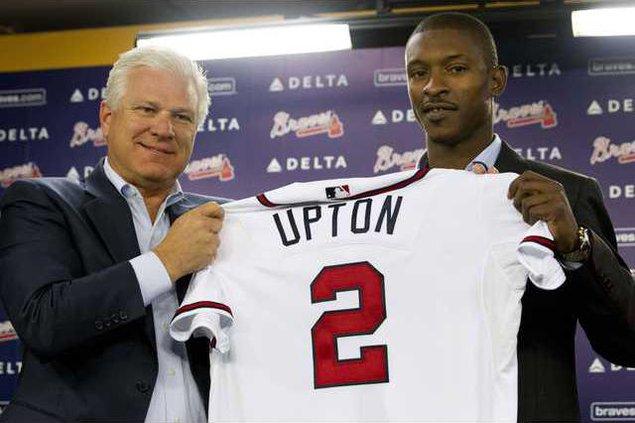 Braves Upton Baseball Heal