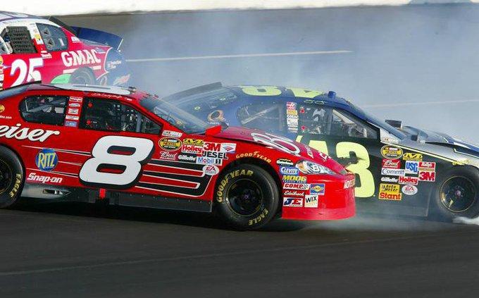 NASCAR b 4 col bw