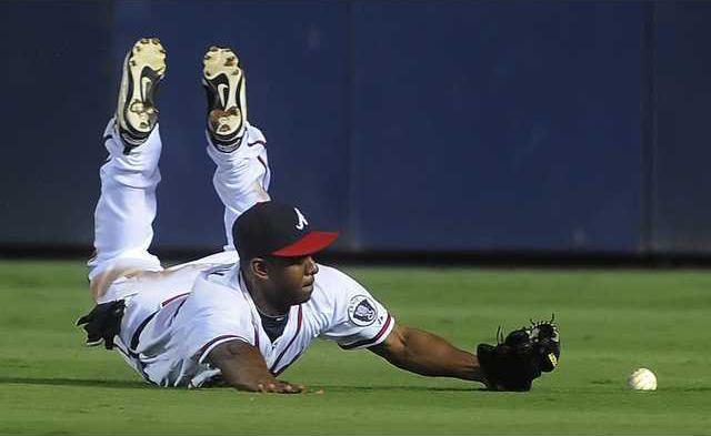 Dodgers Braves Baseba Heal