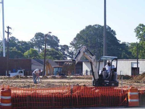 Claxton City Hall - Site work 2