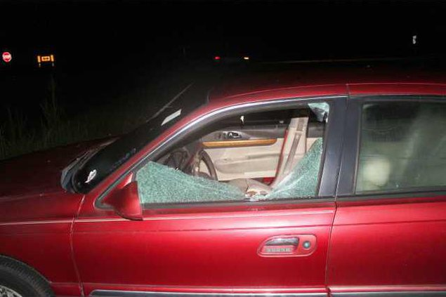Damaged car at Ride Share