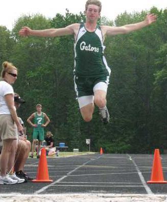 region track-lane in long jump