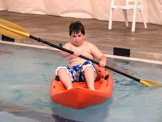 Brandon paddling