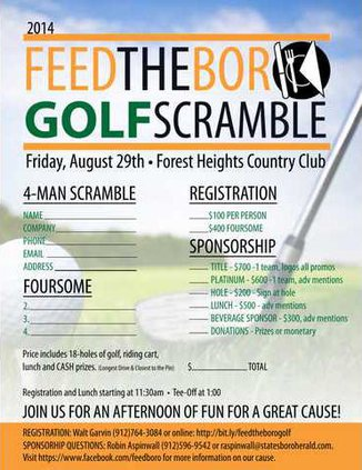 Feed the Boro Golf Scramble