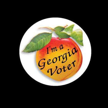 Georgia voter sticker with background