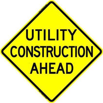 UTILITY CONSTRUCTION AHEAD Y 280x2x