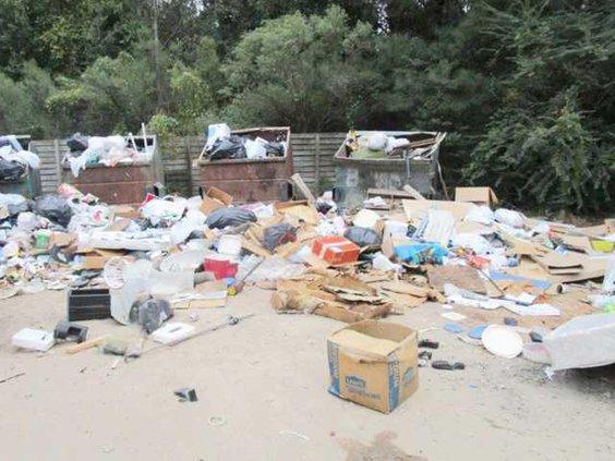 W Dumpster mess