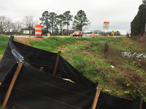 Highway 80 East construction