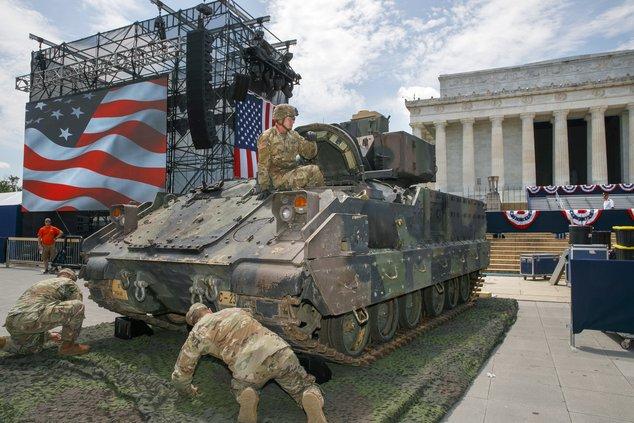 military on display