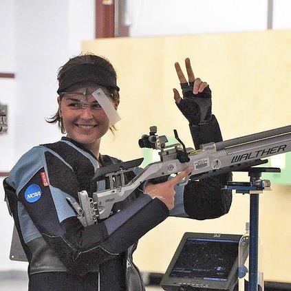 Rosemary Kramer with gun