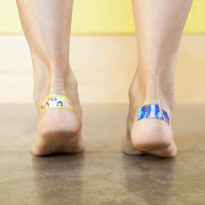 bandaid on foot