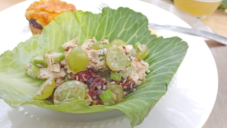Chicken Salad Cabbage Cups