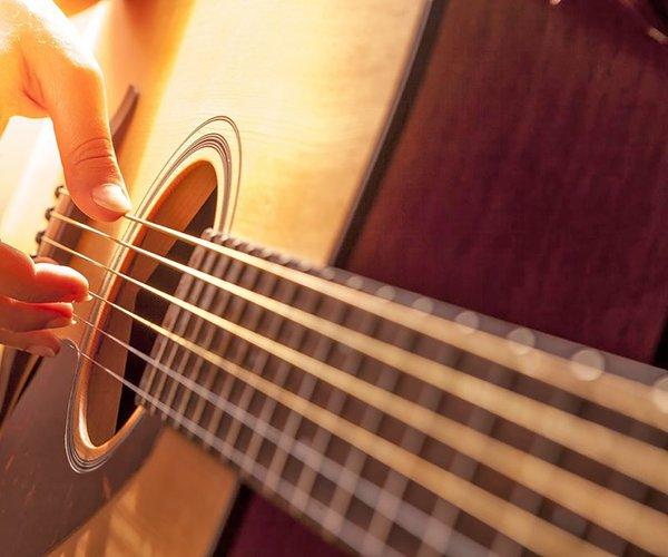 cloae up guitar