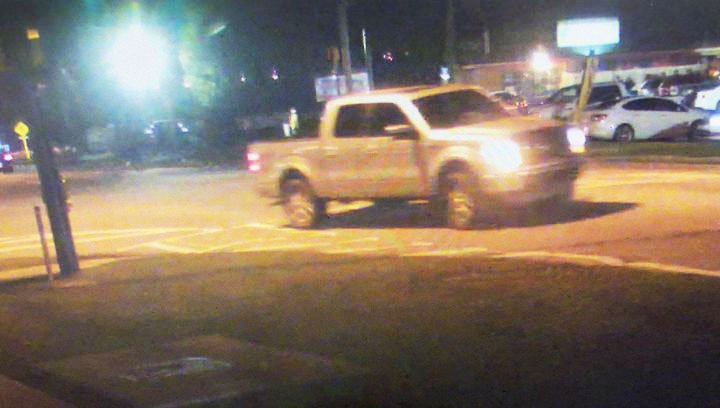 Photo courtesy Statesboro Police Department Statesboro Police are looking for a silver, four-door Ford F-150, with black tool box in the rear and a kind of sticker in the rear window. It may have been involved in a hit and run.