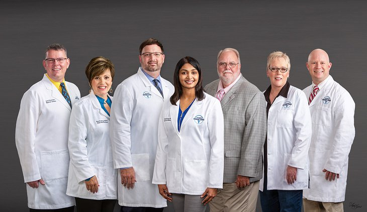 The staff of Statesboro Urgent Care, which opens Thursday, is shown above.