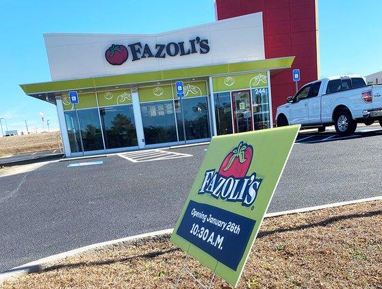 Fazoli's restaurant will open Tuesday in the Statesboro Crossing Shopping Center.