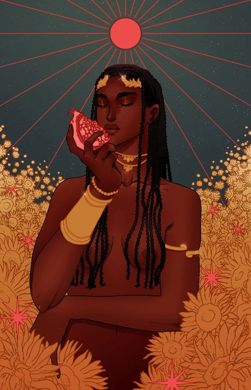 La reine du soleil.