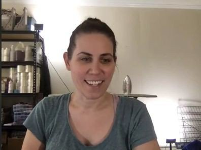 Abode Studios founder Chrissy Rippetoe in a screenshot from this weekend's online market.