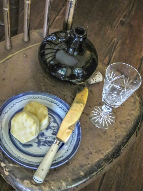 No time or energy for formal meals during the Yellow Fever.