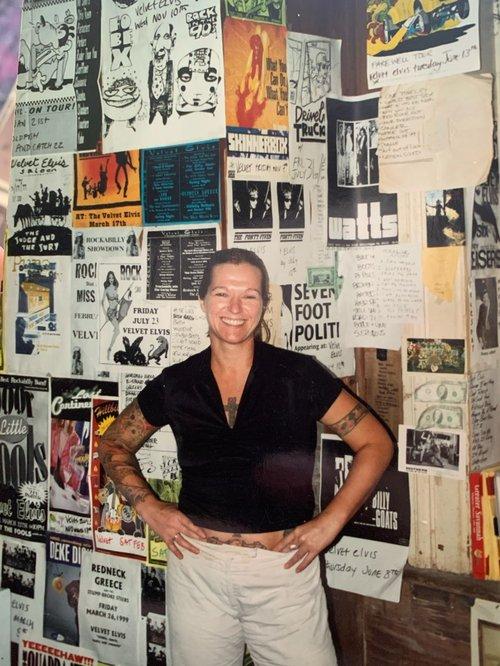 Sarah Wood at Velvet. Photo courtesy of Wood.