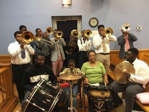 The Savannah United House of Prayer Shout Band.