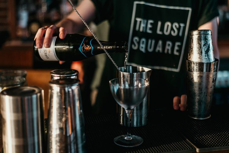 Champagne will flow profusely during the New Year's Eve celebration at The Lost Square.