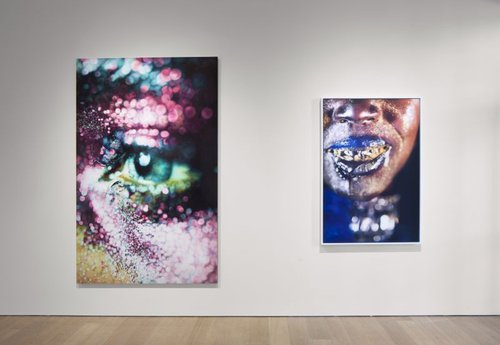 Left to right: Marilyn Minter, Glazed, 2006, Courtesy of the collection of Jeanne Greenberg Rohatyn and Nicolas Rohatyn; Wangechi Gold 4, 2009, Courtesy of the artist and Salon 94, New York.