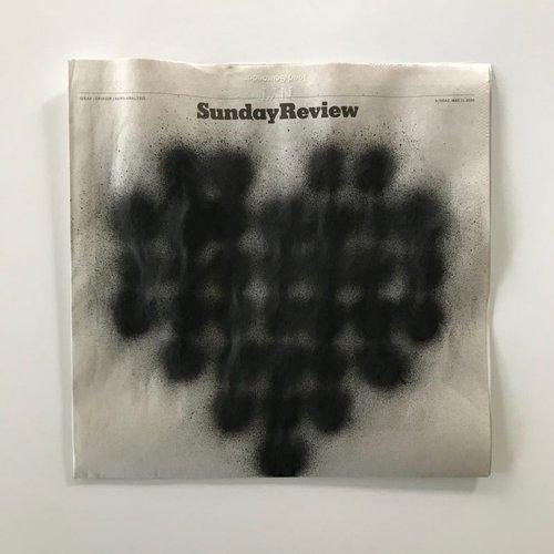 5-24-2020, acrylic on newsprint.