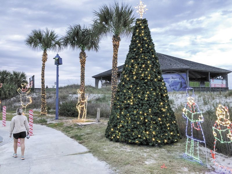 The beachside Christmas tree by Tybee's pier.