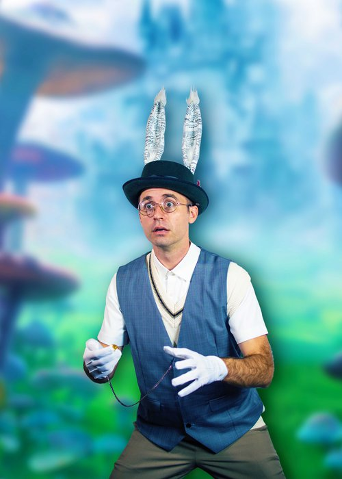 Ryan Henderson plays the White Rabbit in the new Savannah Stage Company production of