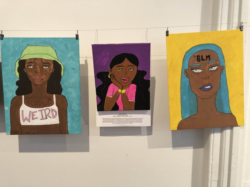 An image from the '#BLM' exhibit at the Beach Institute honoring Black History Month.