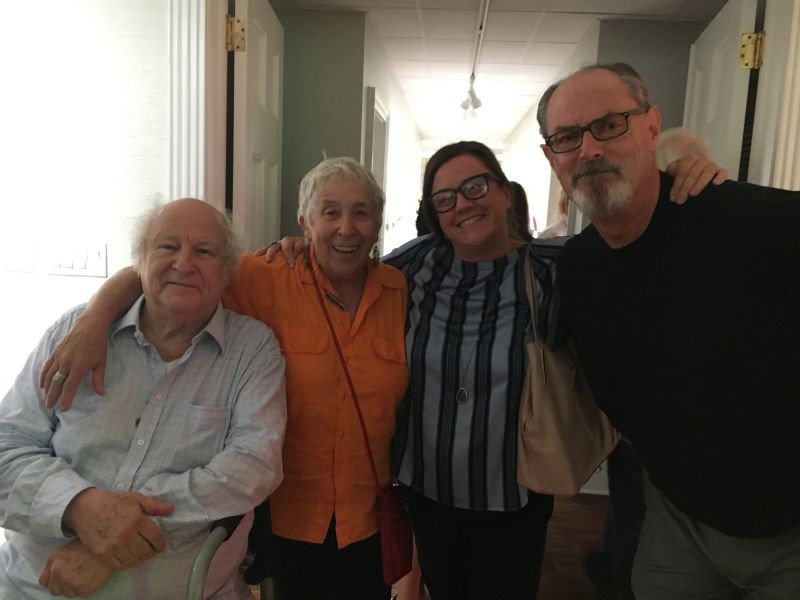 Bobby Zarem, Jane Fishman, Liza Judson and Brian Judson were bowled over by art at Laney Contemporary.