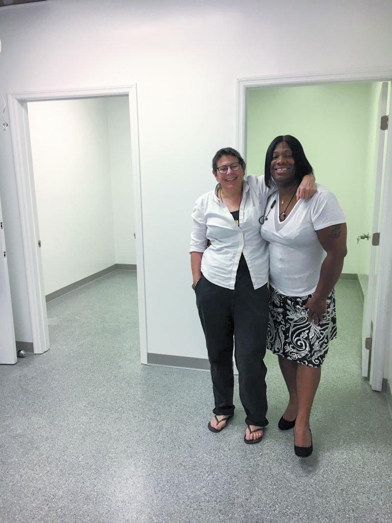 Karen Abato and Evonia Pollard.