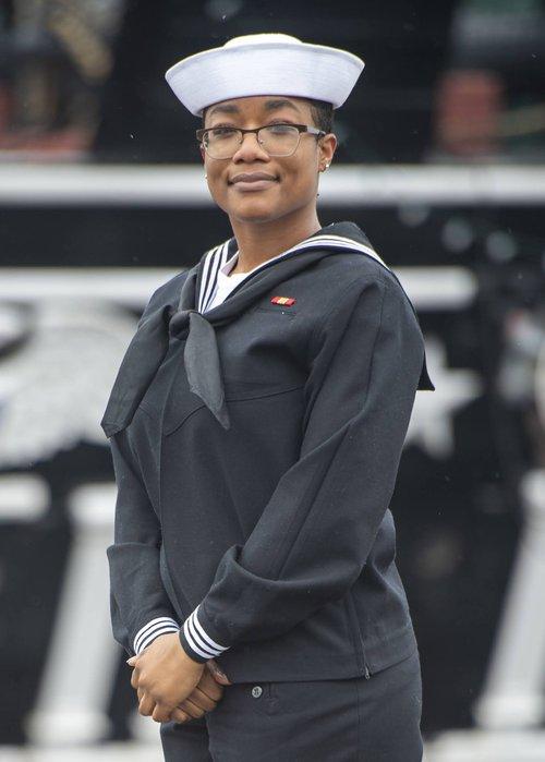 U.S. Navy Airman Tasheyana Harden, a Savannah native now serving aboard the USS Constitution.