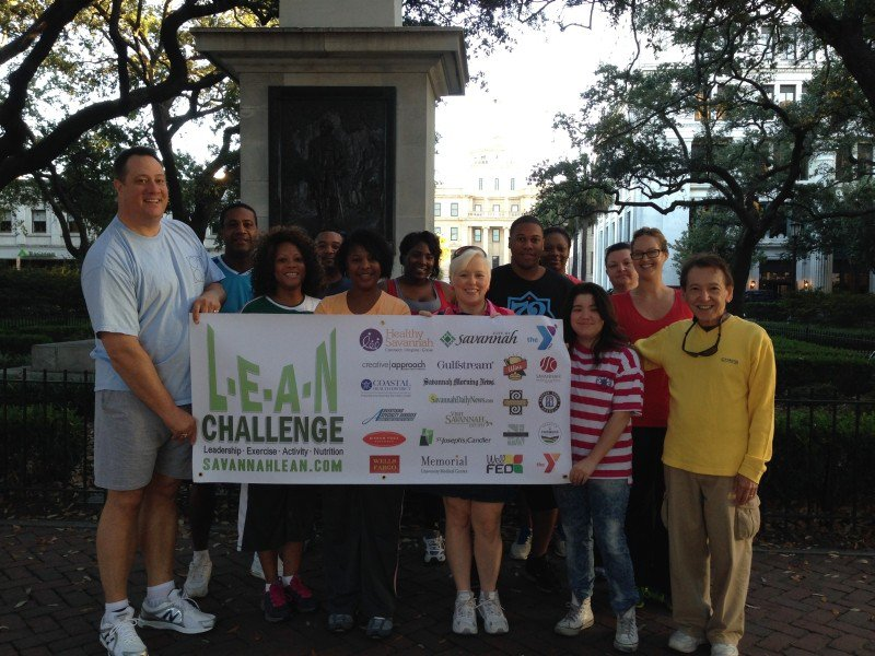 Healthy Savannah worked directly with the City of Savannah to coordinate the 2013 LEAN (Leadership, Exercise, Activity, Nutrition) Health and Wellness Challenge. Many players and teams shifted their behaviors toward making healthier choices. Photo by Stephen Morton (www.stephenmorton.com).