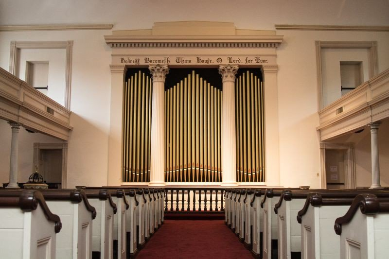 Many a secular celebration has been hosted in the acoustically-perfect sanctuary of Trinity UMC, including The Thursday Night Opry featuring local musicians.