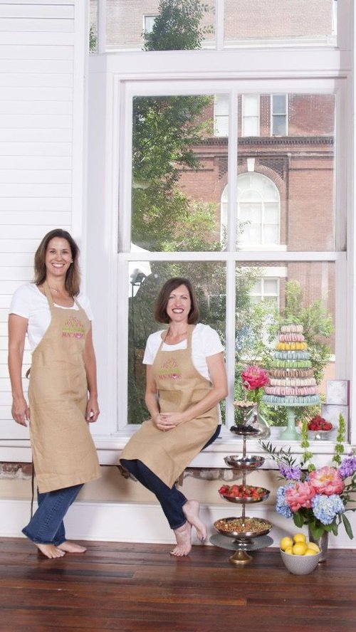 Amy Shippy (left) and Laura Hale (right) are best friends and owners of Marché de Macarons.